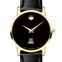 University of Arizona Women's Movado Gold Museum Classic Leather
