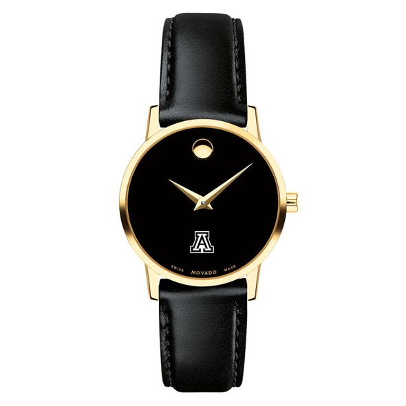 University of Arizona Women's Movado Gold Museum Classic Leather - Image 2