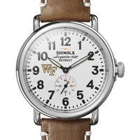 Wake Forest Shinola Watch, The Runwell 41mm White Dial