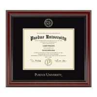 Purdue University Masters/PhD Diploma Frame, the Fidelitas