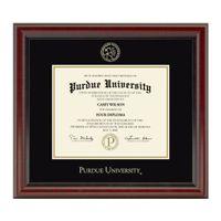 Purdue University Masters/PhD Diploma Frame, the Fidelitas