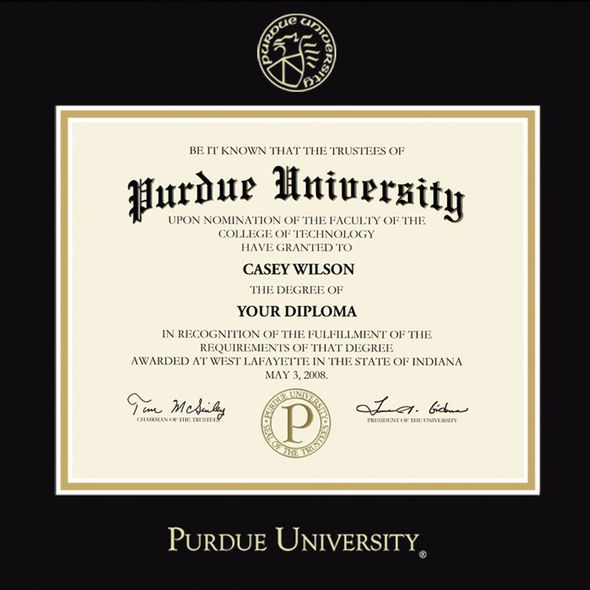 Purdue University Masters/PhD Diploma Frame, the Fidelitas - Image 2