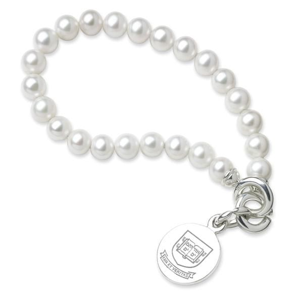 Yale Pearl Bracelet with Sterling Silver Charm