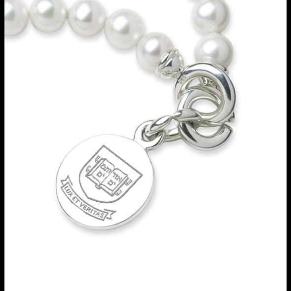 Yale Pearl Bracelet with Sterling Silver Charm - Image 2