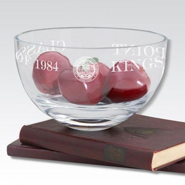 """USMMA 10"""" Glass Celebration Bowl - Image 1"""