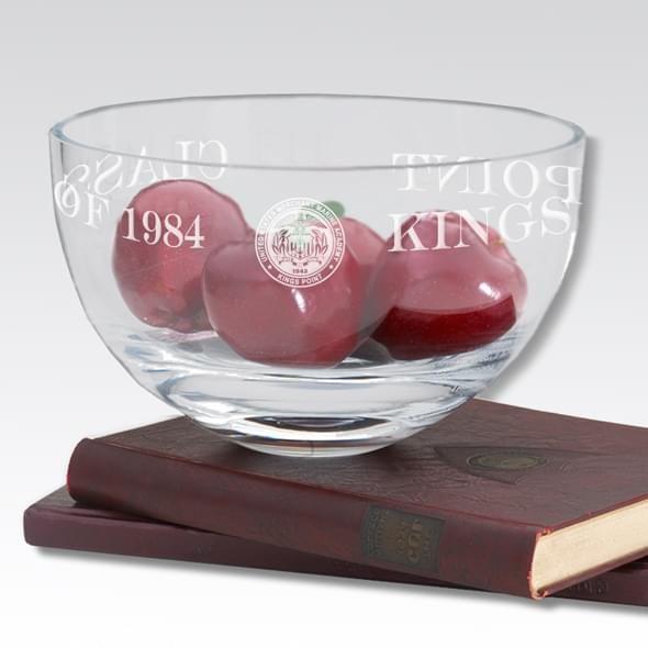 """USMMA 10"""" Glass Celebration Bowl - Image 2"""