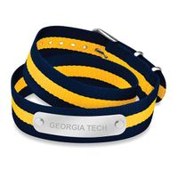 Georgia Tech Double Wrap NATO ID Bracelet