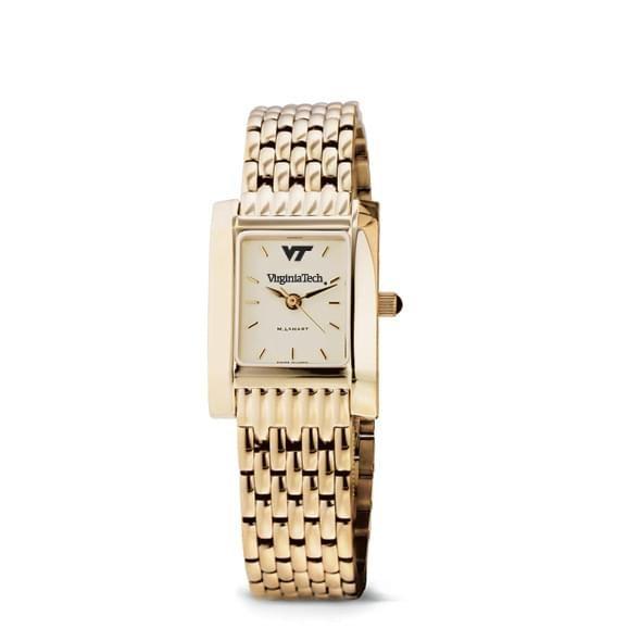 Virginia Tech Women's Gold Quad Watch with Bracelet - Image 2