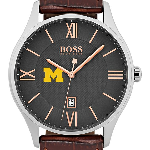 University of Michigan Men's BOSS Classic with Leather Strap from M.LaHart