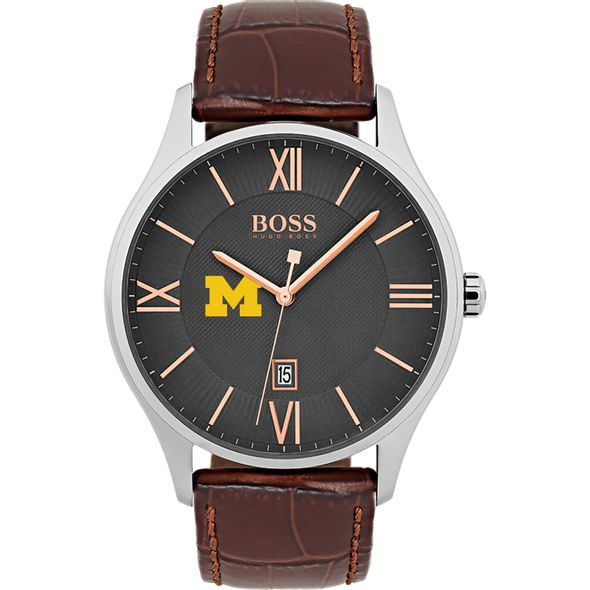 University of Michigan Men's BOSS Classic with Leather Strap from M.LaHart - Image 2