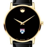 University of Pennsylvania Men's Movado Gold Museum Classic Leather