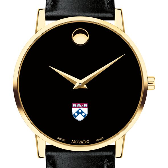 Penn Men's Movado Gold Museum Classic Leather