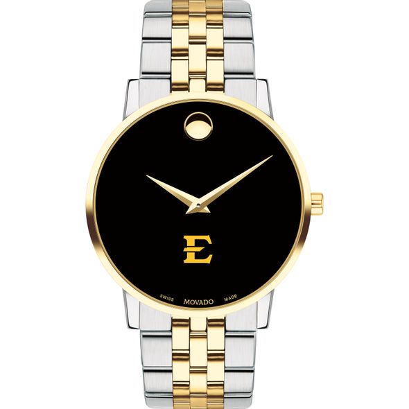 East Tennessee State Men's Movado Two-Tone Museum Classic Bracelet - Image 2