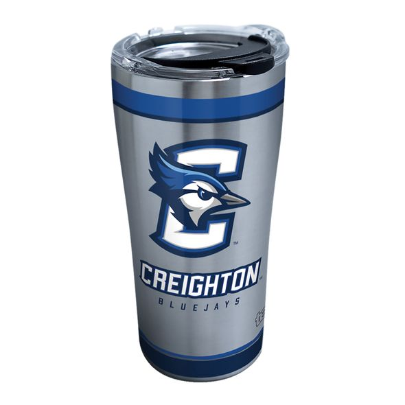 Creighton 20 oz. Stainless Steel Tervis Tumblers with Hammer Lids - Set of 2