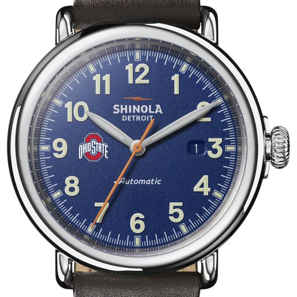 Ohio State Shinola Watch, The Runwell Automatic 45mm Royal Blue Dial - Image 1