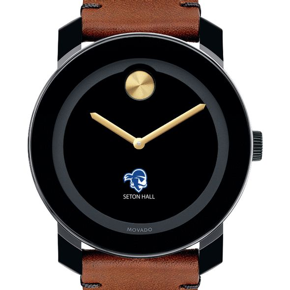 Seton Hall Men's Movado BOLD with Brown Leather Strap - Image 1