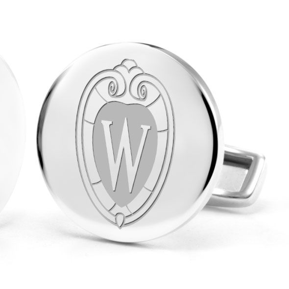 University of Wisconsin Cufflinks in Sterling Silver - Image 2