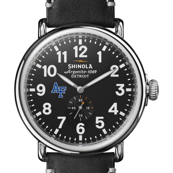 USAFA Shinola Watch, The Runwell 47mm Black Dial - Image 1