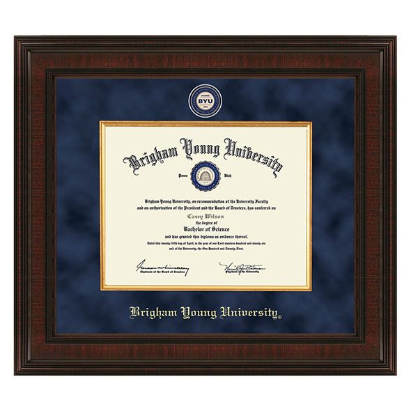 Brigham Young University Diploma Frame - Excelsior