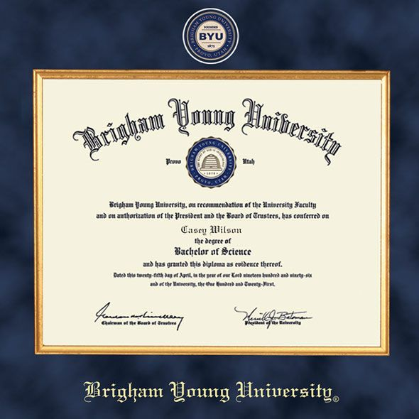 Brigham Young University Diploma Frame - Excelsior - Image 2