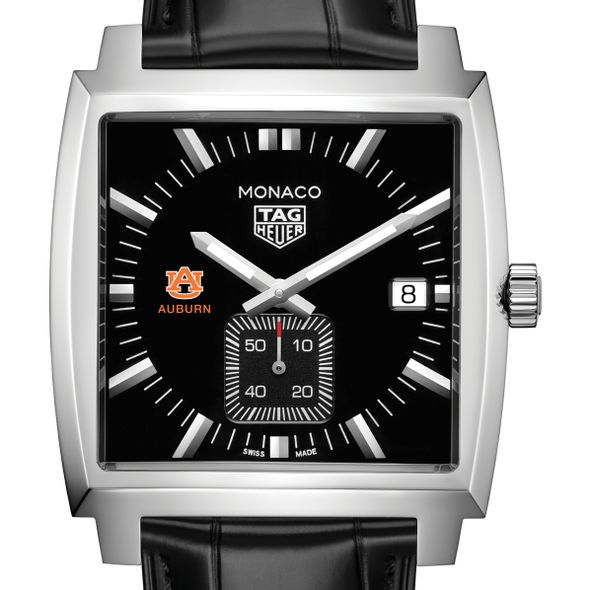 Auburn University TAG Heuer Monaco with Quartz Movement for Men - Image 1