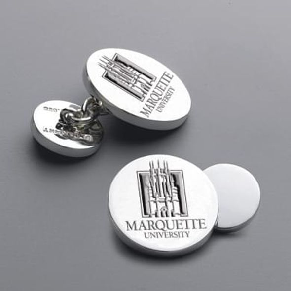 M LA HART Marquette 18K Gold Cufflinks