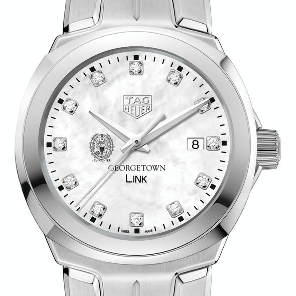 Georgetown University TAG Heuer Diamond Dial LINK for Women - Image 1