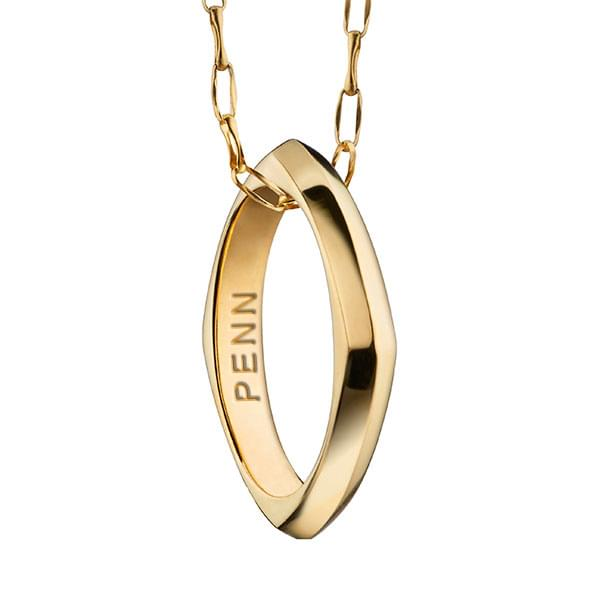 Penn Monica Rich Kosann Poesy Ring Necklace in Gold - Image 1