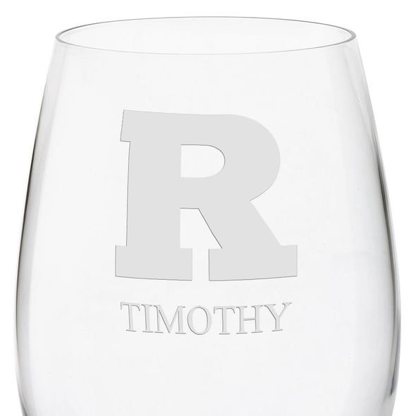Rutgers University Red Wine Glasses - Set of 4 - Image 3