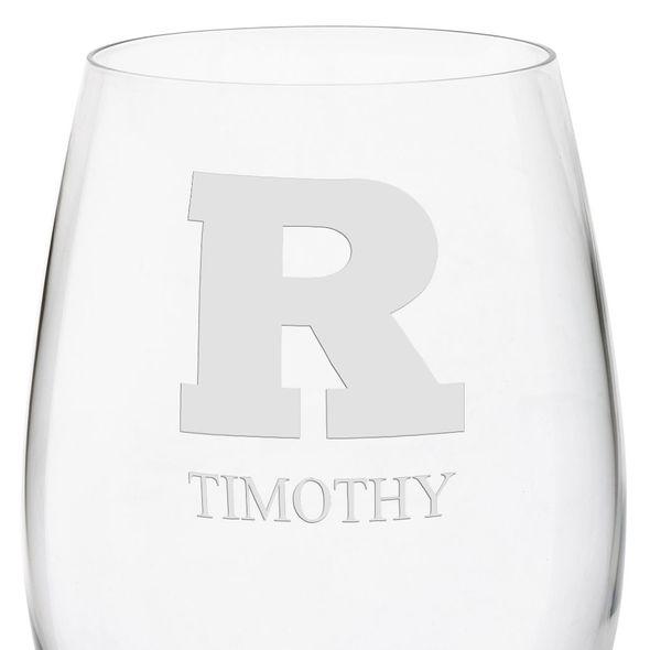 Rutgers University Red Wine Glasses - Set of 4 - Image 3