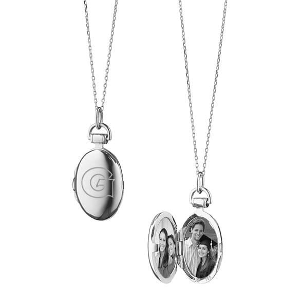 Georgetown Monica Rich Kosann Petite Locket in Silver