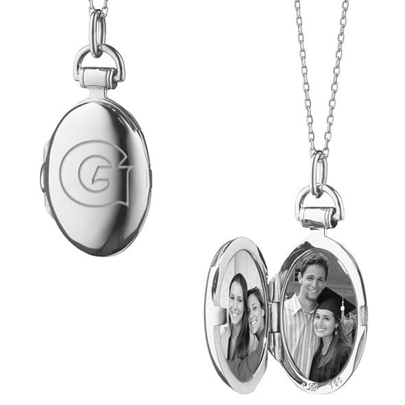 Georgetown Monica Rich Kosann Petite Locket in Silver - Image 2
