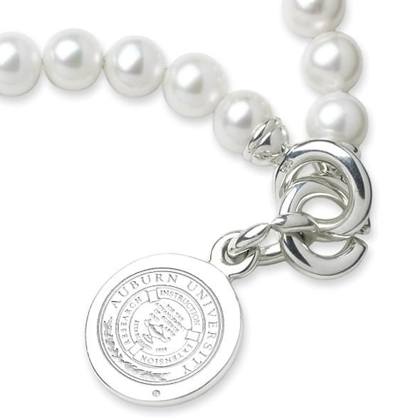 Auburn Pearl Bracelet with Sterling Silver Charm - Image 2