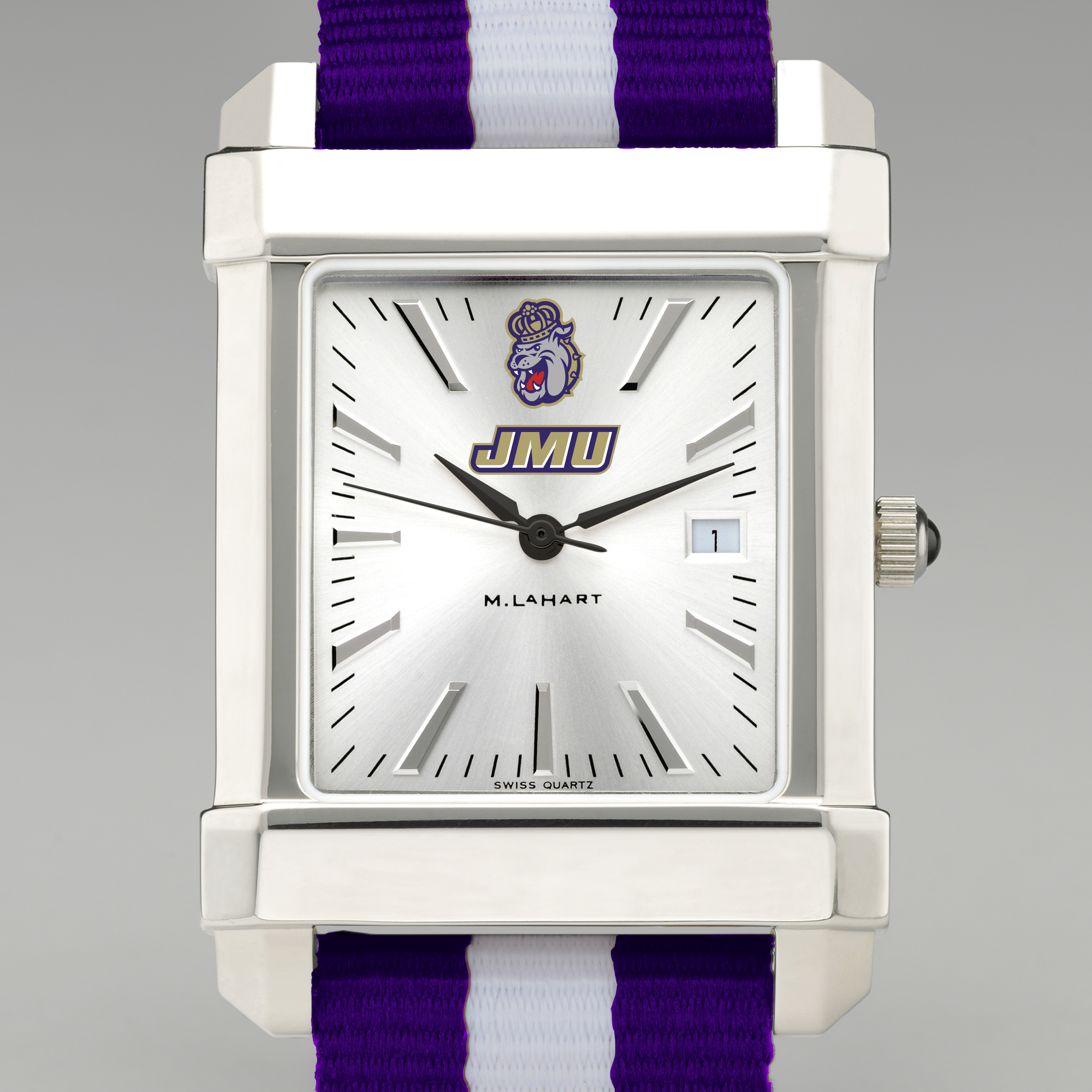 James Madison University Collegiate Watch with NATO Strap for Men - Image 1
