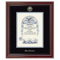 Citadel Diploma Frame, the Fidelitas