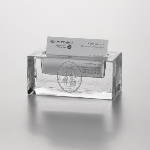 South Carolina Glass Business Cardholder by Simon Pearce - Image 1