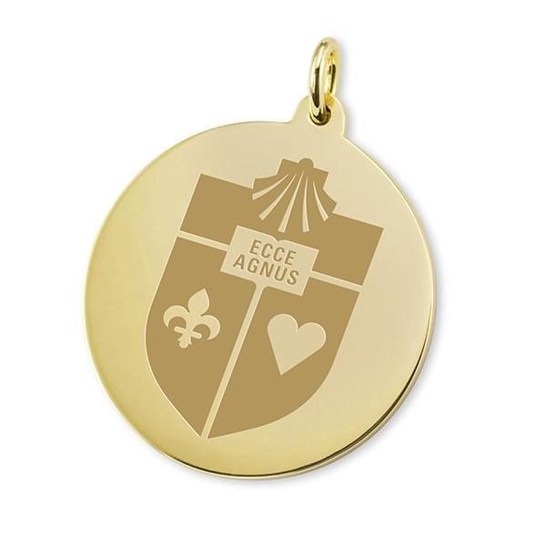 St. John's 18K Gold Charm