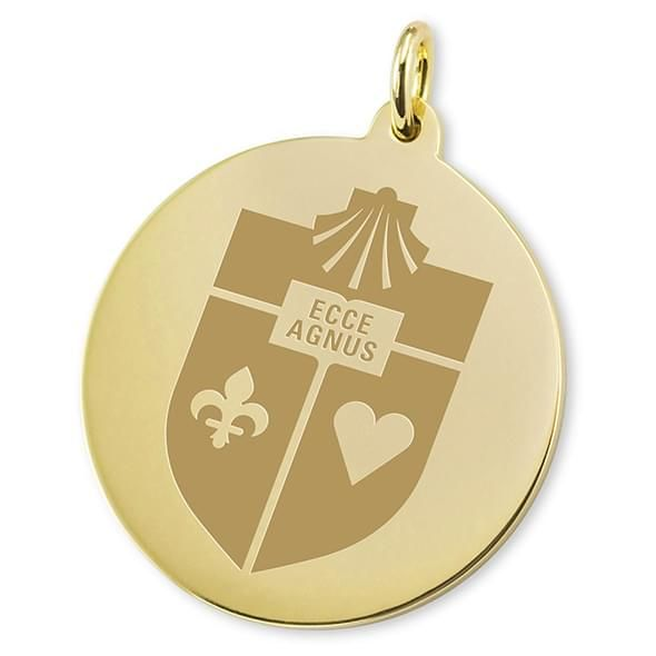 St. John's 18K Gold Charm - Image 2