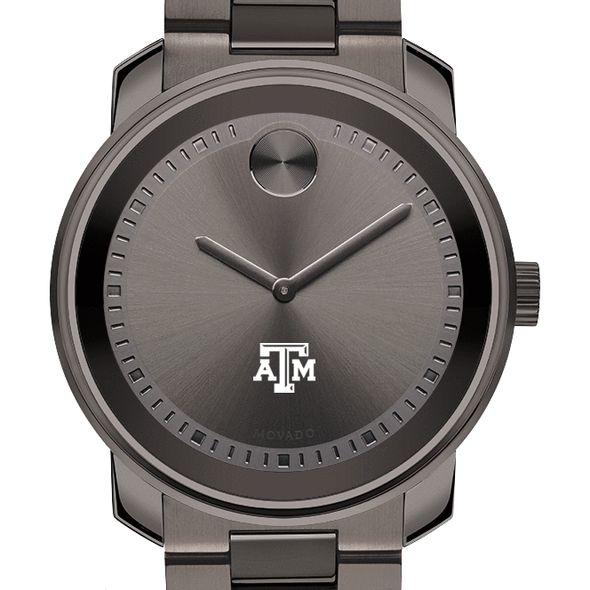 Texas A&M University Men's Movado BOLD Gunmetal Grey