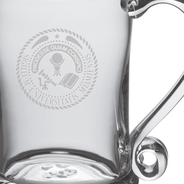 Miami University Glass Tankard by Simon Pearce - Image 2