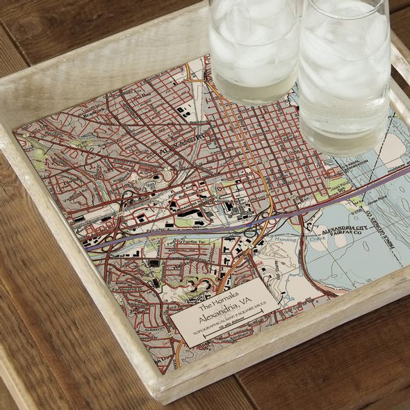Custom Map Serving Tray - Image 2