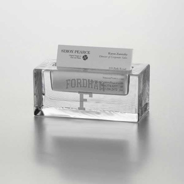Fordham Glass Business Cardholder by Simon Pearce