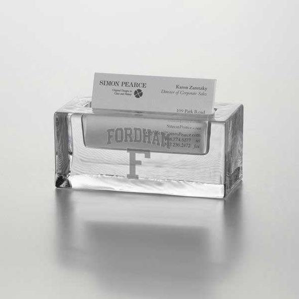 Fordham Glass Business Cardholder by Simon Pearce
