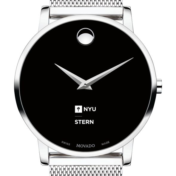 NYU Stern School of Business Men's Movado Museum with Mesh Bracelet