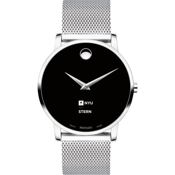 NYU Stern School of Business Men's Movado Museum with Mesh Bracelet - Image 2