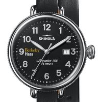 Berkeley Haas Shinola Watch, The Birdy 38mm Black Dial