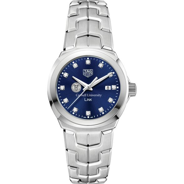 Cornell University Women's TAG Heuer Link with Blue Diamond Dial - Image 2