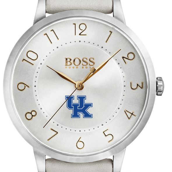University of Kentucky Women's BOSS White Leather from M.LaHart