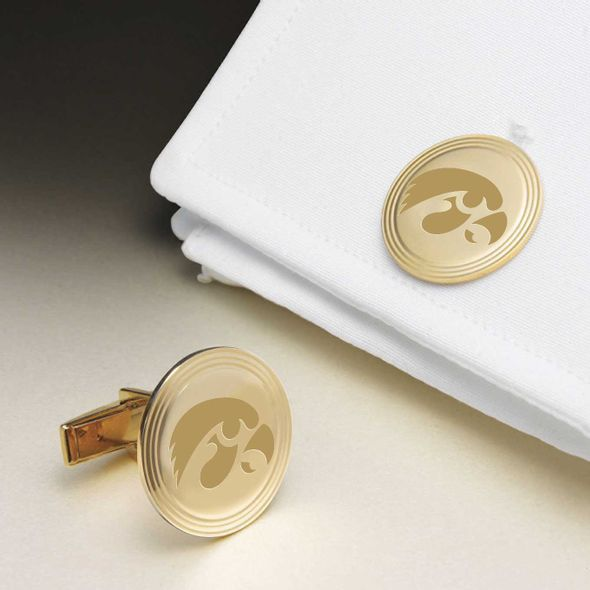 University of Iowa 18K Gold Cufflinks