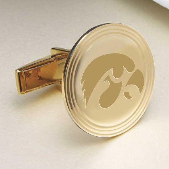 University of Iowa 18K Gold Cufflinks - Image 2